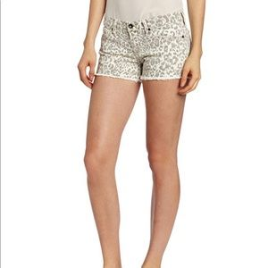 Lucky Brand Riley leopard print distressed shorts